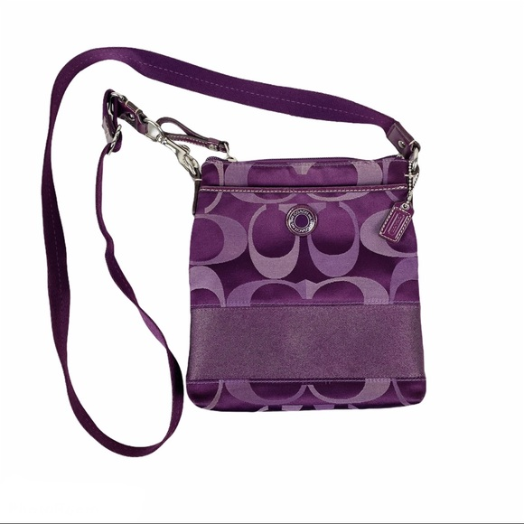 COACH Plum Deep Purple Crossbody Bag Purse